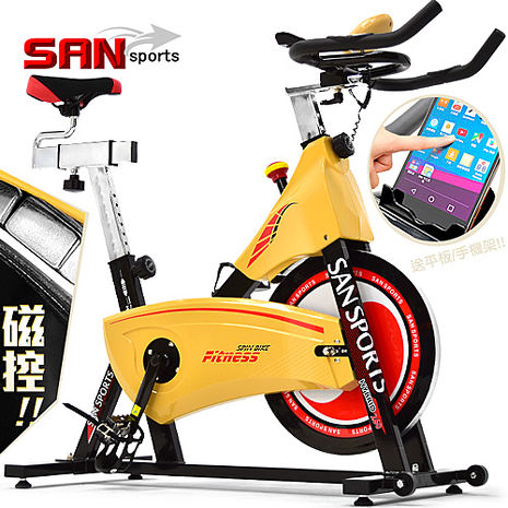 SAN SPORTS 大黃蜂18公斤磁控飛輪車(皮帶傳動)