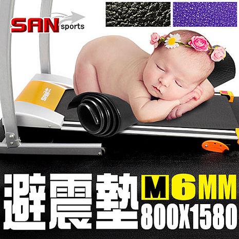 【SAN SPORTS】6MM多功能跑步機地墊1.黑