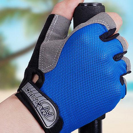 半指款運動手套 露指短指手套 透氣網布