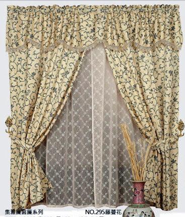 【櫻之舞】台灣製造:集雅緹花雙層(小)窗簾系列-籐蔓花4*4尺