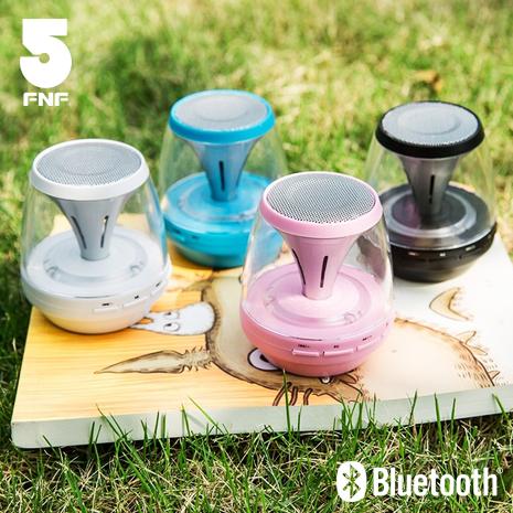 【ifive】七彩小魔燈重低音藍牙喇叭草莓粉