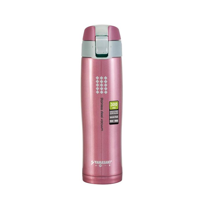 YAMASAKI 山崎彈蓋式真空保溫(冷)隨身瓶300ml-(粉)SK-300ML