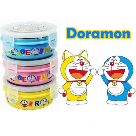 【哆啦A夢】不鏽鋼隔熱碗350mlx3入組(黃色+水藍色+粉紅色)