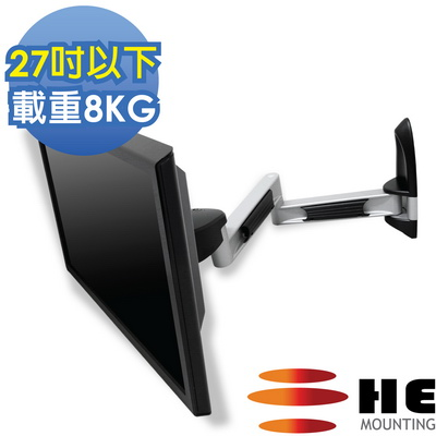 【HE】27吋以下LED/LCD鋁合金雙旋臂壁掛架(H210AR)