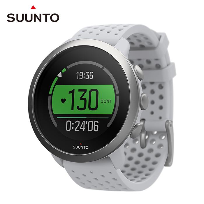 SUUNTO 3 輕巧耐用,配置【智能訓練導引】的運動腕錶 (鵝卵石白)