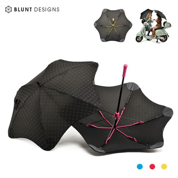 【紐西蘭BLUNT 保蘭特】抗強風防反傘抗UV反光LOGO時尚雨傘(直傘 MINI+ 小號/3色)風格藍