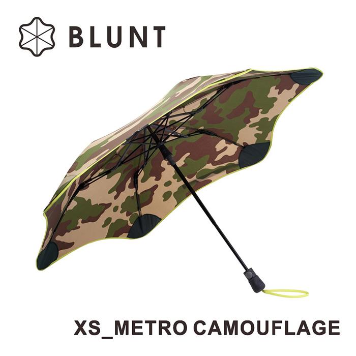 【紐西蘭BLUNT 保蘭特】抗強風抗UV防反轉 折傘XS_METRO(迷彩圖騰)