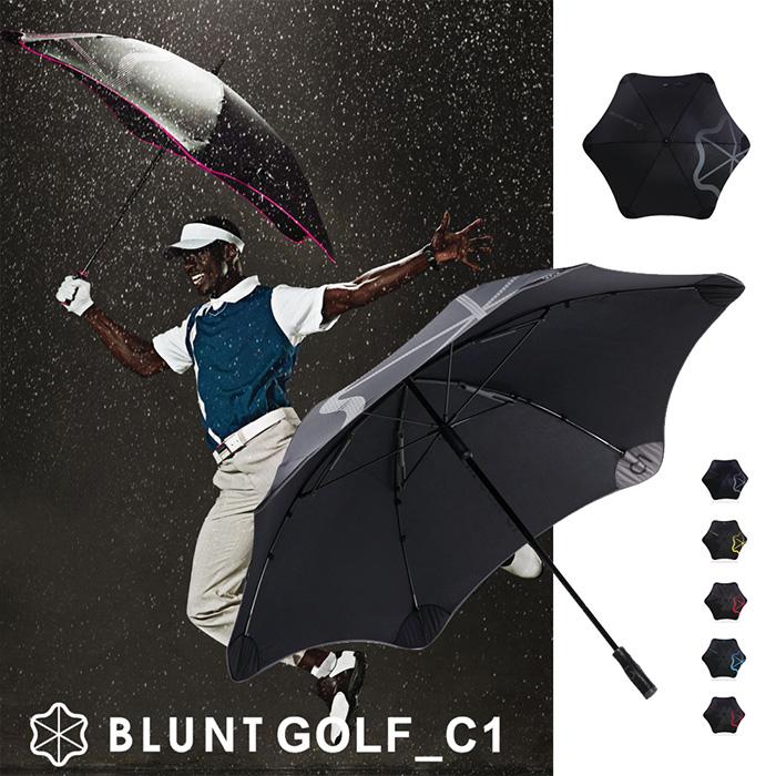 【紐西蘭BLUNT 保蘭特】抗強風 超輕量高爾夫球傘 C1(紳士灰)