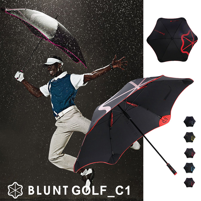 【紐西蘭BLUNT 保蘭特】抗強風 超輕量高爾夫球傘 C1(動感紅)
