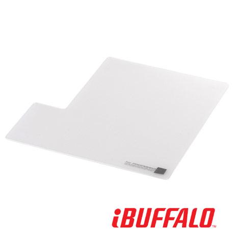 【BUFFALO】大尺寸超薄防滑型 滑鼠墊-白