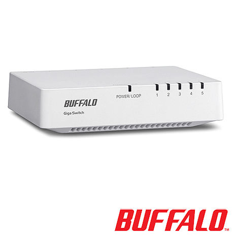 Buffalo LSW4-GT-5EP-TW 5 Port 交換器
