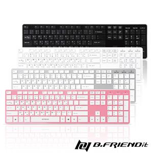 B.Friend RF-1430K 2.4G無線鍵盤粉
