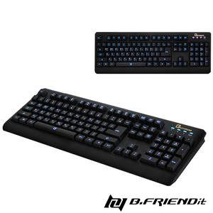 B.Friend GK2遊戲專用發光防水有線鍵盤-3C電腦週邊-myfone購物