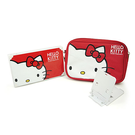 Hello Kitty摺疊藍牙鍵盤(禮盒版)-手機平板配件-myfone購物