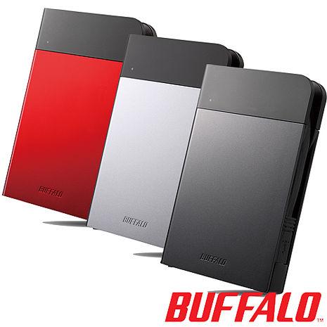 BUFFALO PZF系列2.5吋1TB USB3.0 耐衝擊軍規隨身硬碟(日本製)銀