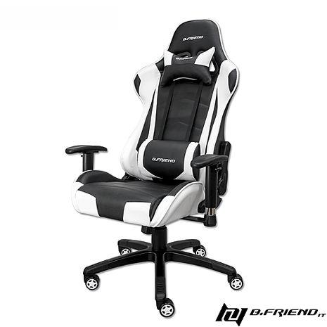 B.Friend GC03 電競專用椅-白黑-居家日用.傢俱寢具-myfone購物