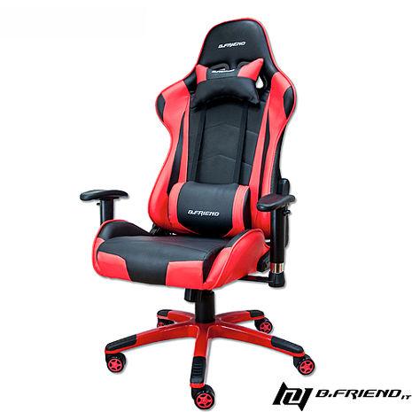 B.Friend GC03 電競專用椅-紅黑-居家日用.傢俱寢具-myfone購物