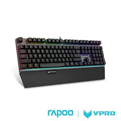 雷柏 RAPOO VPRO V720(青軸)全彩RGB背光機械遊戲鍵盤-黑
