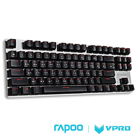 雷柏 RAPOO VPRO V500 87鍵 機械式鍵盤(青軸)
