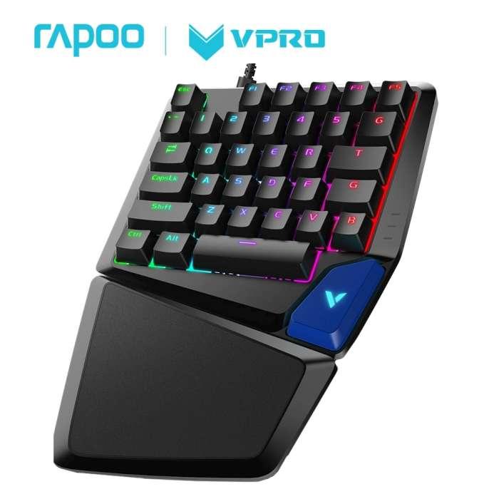Rapoo 雷柏V550RGB 35鍵 電競鍵盤(青軸)_19光棍