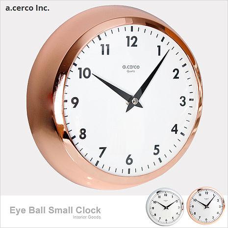 【a.cerco】高品質台灣機芯 Eye Ball 小鐵鐘玫瑰金