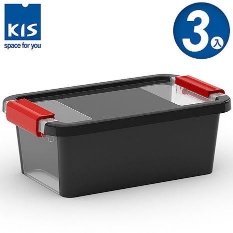 【義大利KIS創意收納】 BI BOX單開收納箱XS 黑 *3入