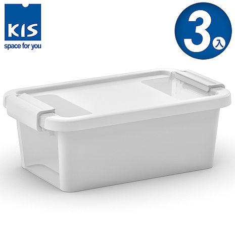 【義大利KIS創意收納】 BI BOX單開收納箱XS 白 *3入
