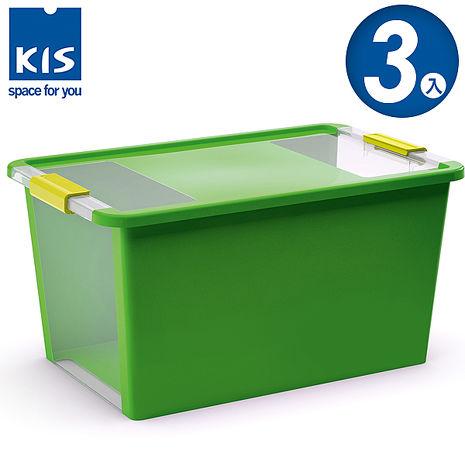 【義大利KIS創意收納】 BI BOX單開收納箱L 綠 *3入