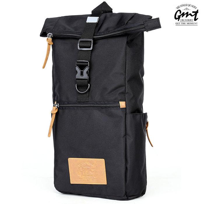 【GMT】挪威潮流品牌 黑色單車休閒側背包