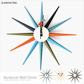 【a.cerco】經典光芒鐘 Sunburst Clock (三色可選)