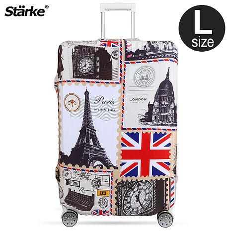 Starke 高彈性行李箱套-復古歐洲  適用27-30吋