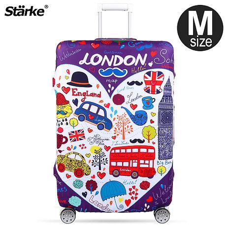 Starke 高彈性行李箱套-紫心倫敦 適用23-26吋