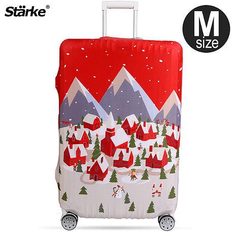 Starke 高彈性行李箱套-北歐村莊 適用23-26吋