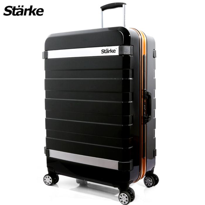 德國設計Starke 29吋 PC 鏡面鋁框硬殼行李箱 J系列-黑色