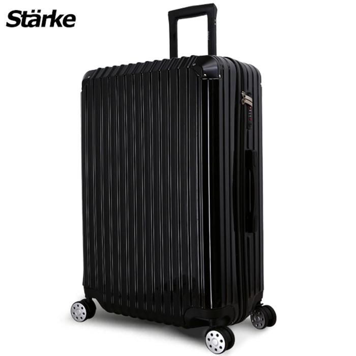 德國設計Starke 艾夏 28吋PC+ABS耐撞TSA海關鎖拉鏈行李箱/旅行箱-黑色
