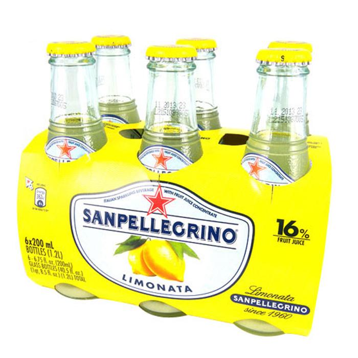 (活動)S.Pellegrino 聖沛黎洛氣泡水果飲料-萊姆口味(200mlx24入)