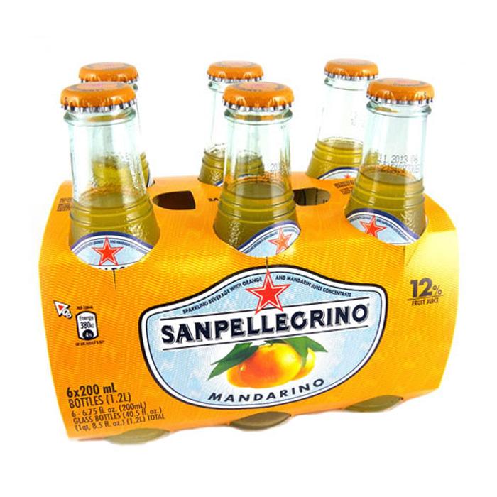 任選 S.Pellegrino 聖沛黎洛氣泡水果飲料-金橘口味(200mlx24入)