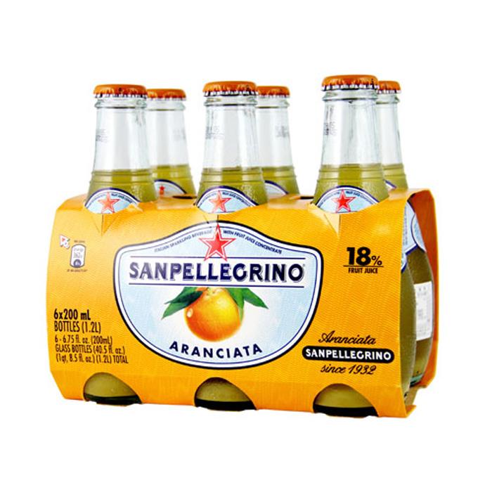 S.Pellegrino 聖沛黎洛氣泡水果飲料-甜橙口味(200mlx24入) 活動