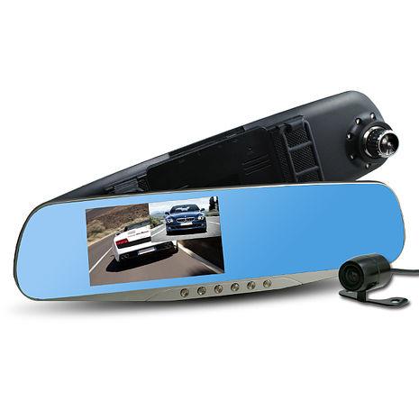 行走天下 CR05 雙鏡頭後視鏡行車記錄器