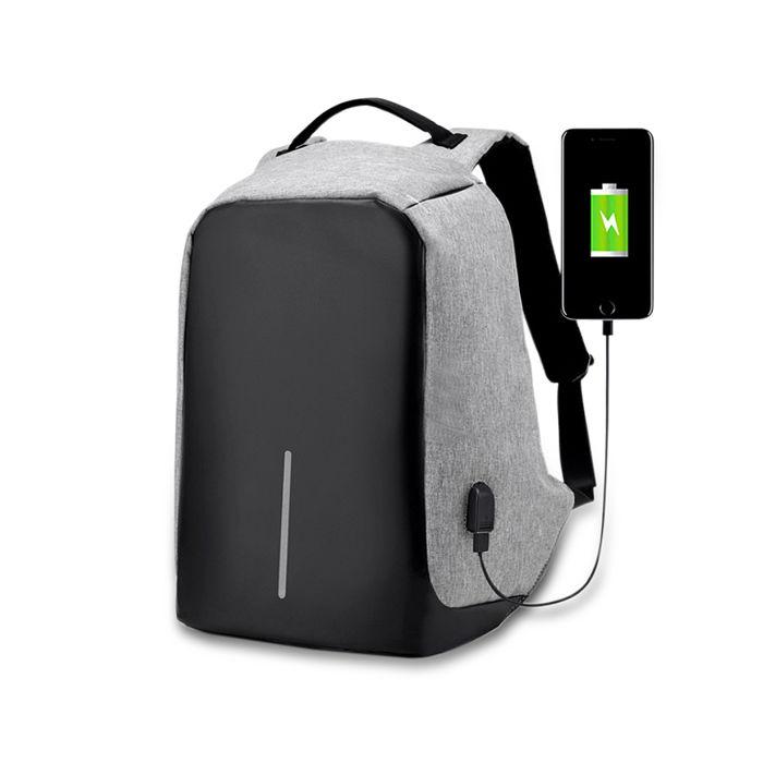 【APP限定】多功能機能性安全防盜後背包-灰色