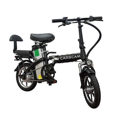 CARSCAM 95公里電力輔助都市電動自行車(電動自行車 折疊車 親子車 電動車)