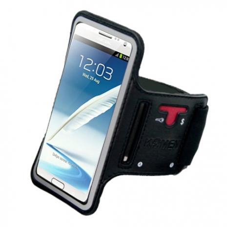【KAMEN】SAMSUNG 手機系列專用《運動臂套/手腕套》(大尺寸:可支援6吋手機)黑色-5.5吋