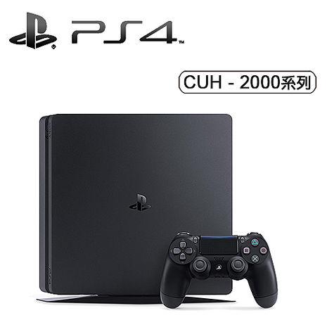 SONY PS4 Slim 500GB主機-極致黑《贈:主機直立架手把果凍套》
