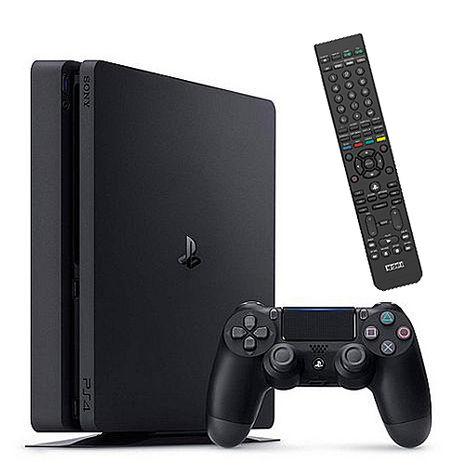 Sony PS4 500GB Slim主機+BD/TV多功能遙控器《最強藍光播放機》贈:主機立架