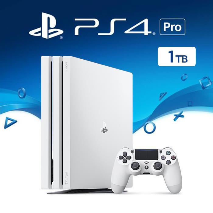 PS4 Pro 1TB 冰河白主機《贈:手把果凍套》