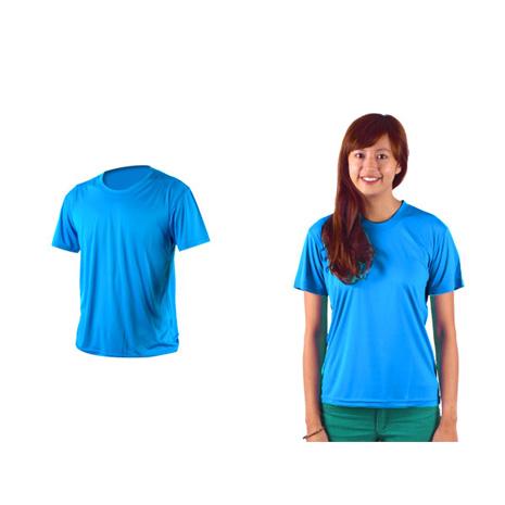 【HODARLA】激膚無感衣 男女涼感短T恤-0秒吸排抗UV輕量吸濕排汗無著感 藍S