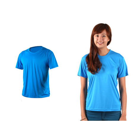 【HODARLA】激膚無感衣 男女涼感短T恤-0秒吸排抗UV輕量吸濕排汗無著感 寶藍XL