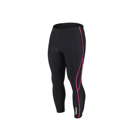 【INSTAR】起點 男女緊身長褲-台灣製 慢跑緊身褲 路跑 籃球內搭褲 黑桃紅XS
