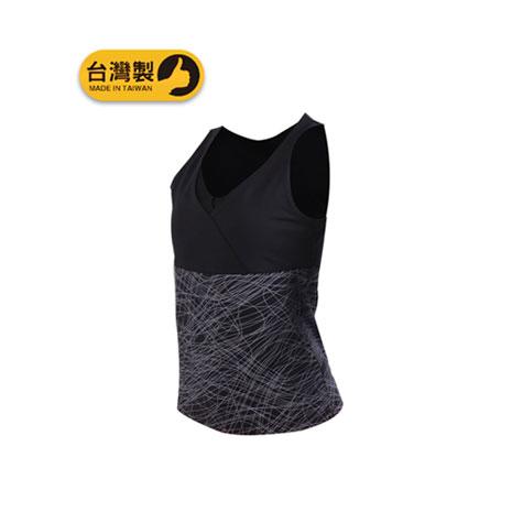 【SOFO】女運動背心-慢跑 路跑 有氧 瑜珈 韻律 台灣製 黑