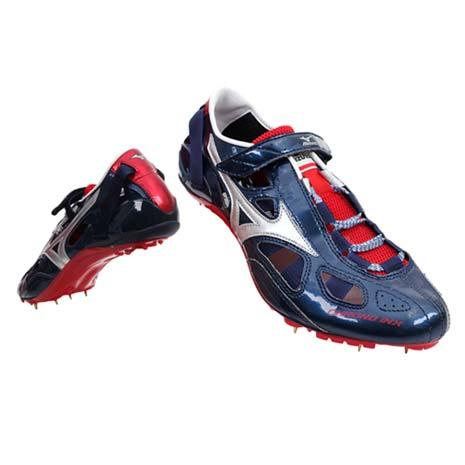 【MIZUNO】CHRONO INX9日製男女田徑釘鞋-日本製 短距離  美津濃 丈青銀紅
